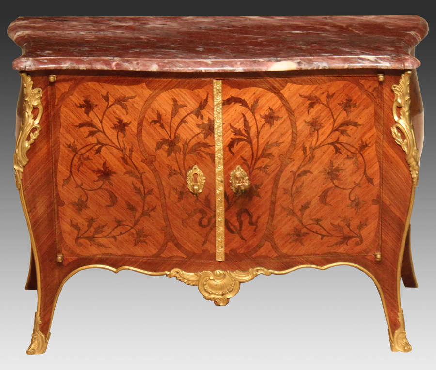 An Early 20th century Kingwood and Ormolu mounted table top commode