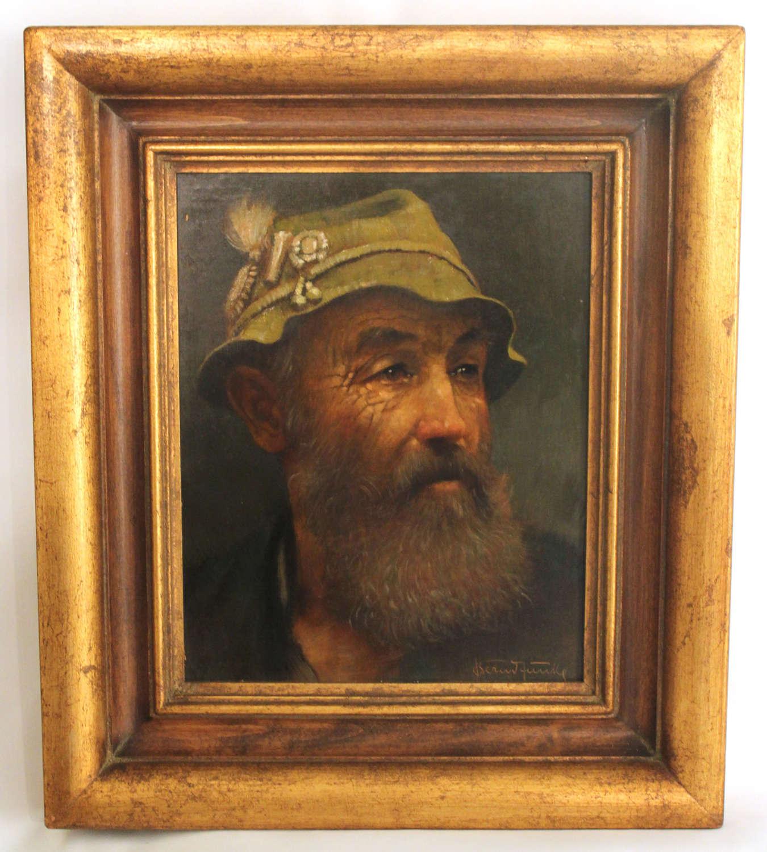 Bernd Funke (1902 - 1988) A Good Oil on Canvas Signed Berned Funke