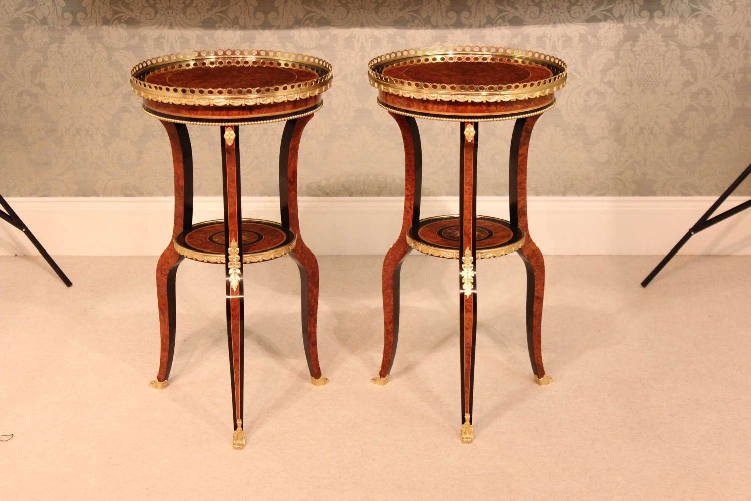 A Pair of Edwards and Roberts French Style Side Tables