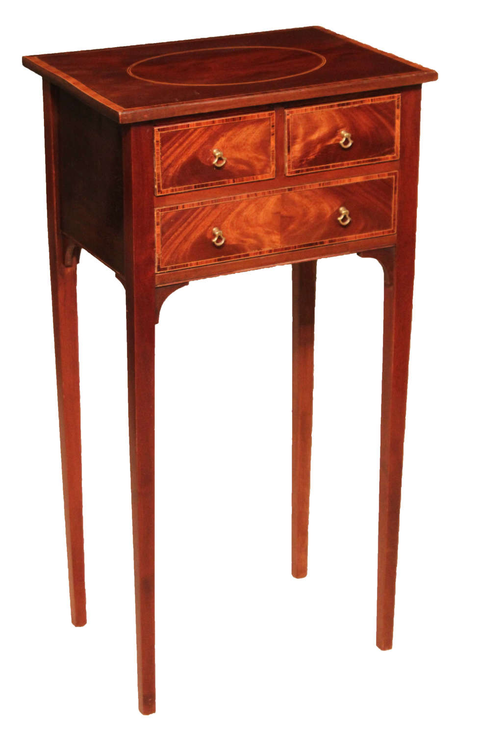 The Quality Edwardian Mahogany Inlaid Side Table.