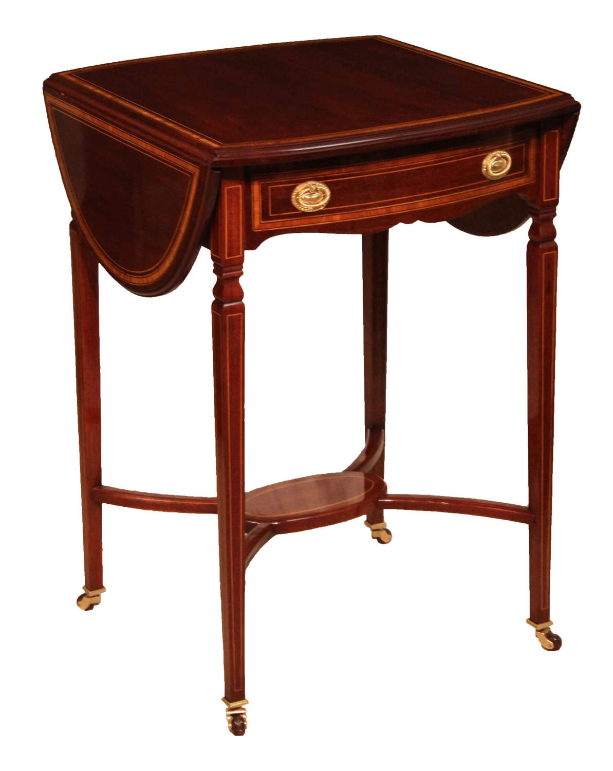 The Quality Edwardian Mahogany Inlaid Pembroke Table