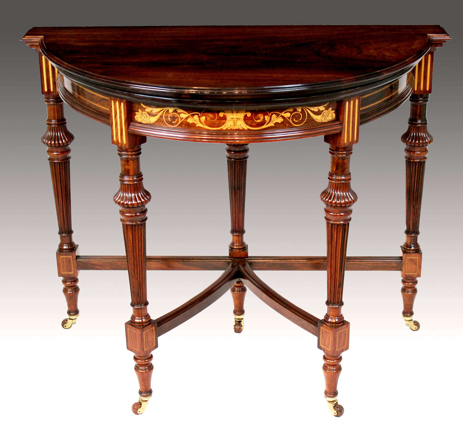 A Late Victorian Rosewood Inlaid Card Table