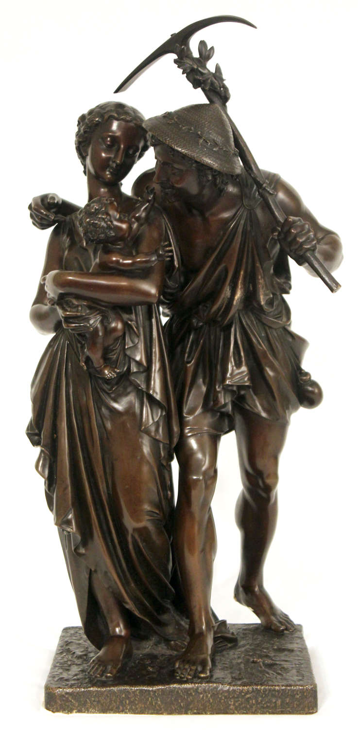 A Late 19th C French Large Bronze