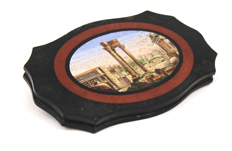 Grand Tour 19th Century Italian Micro Mosaic Plaque