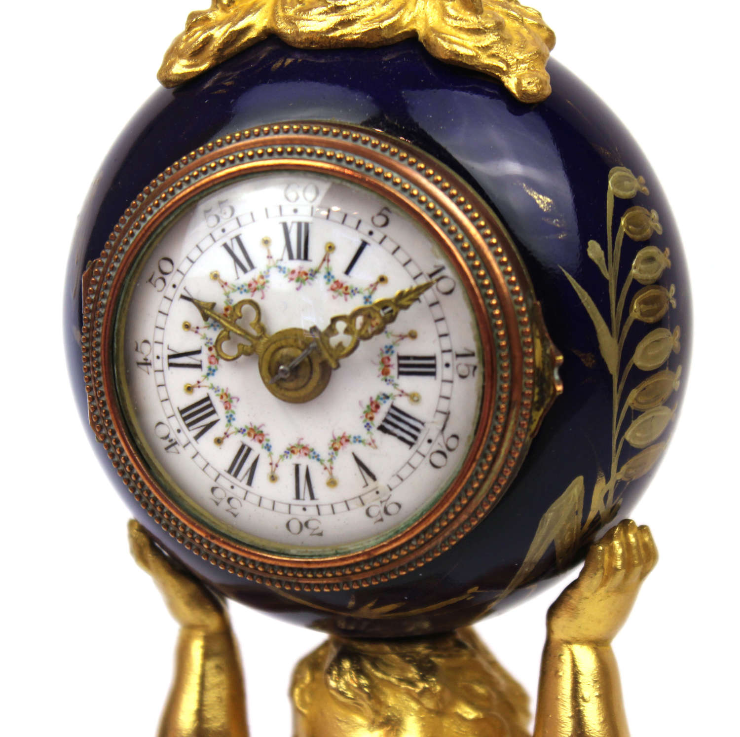 A 19th c. Cherub mantel clock
