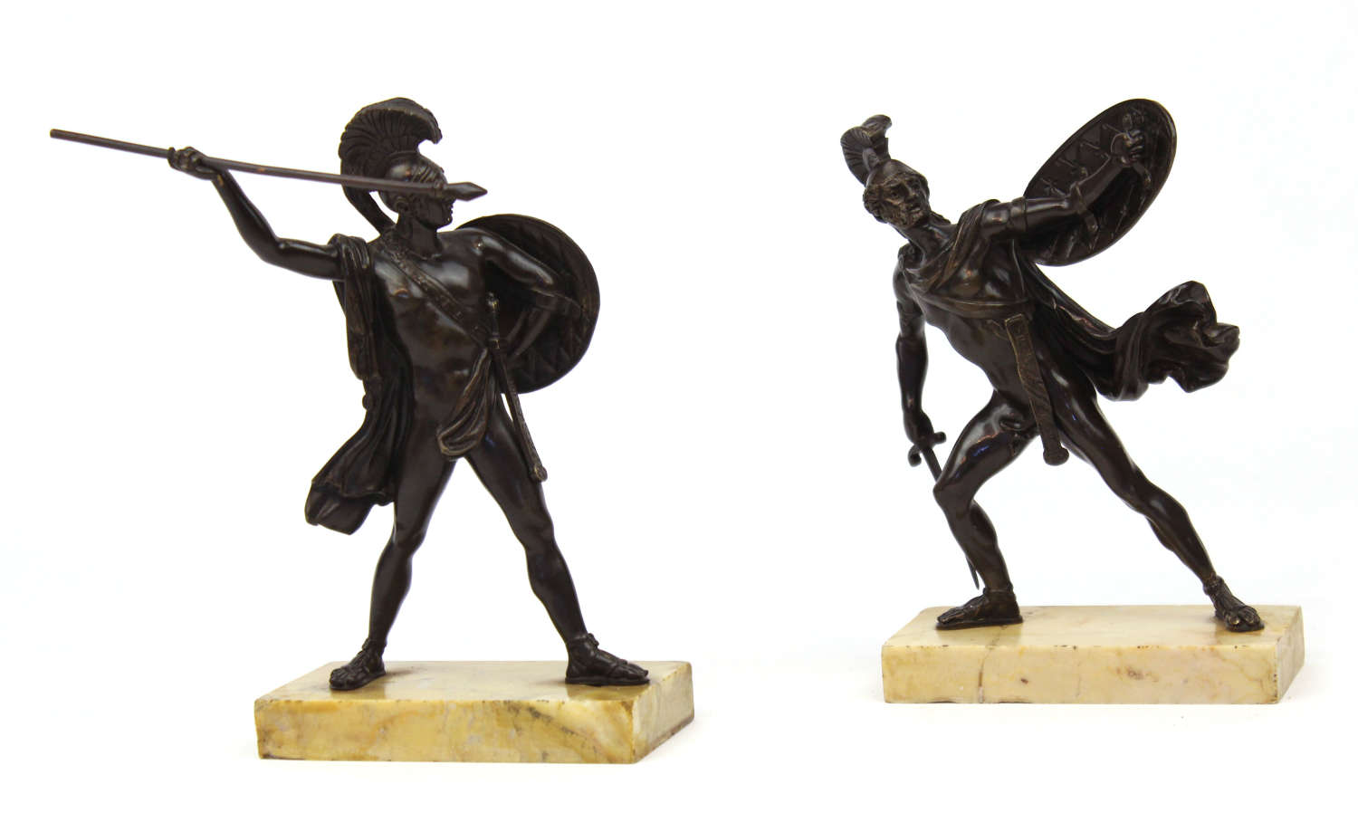 A Pair of 19th Century Gladiator Bronzes