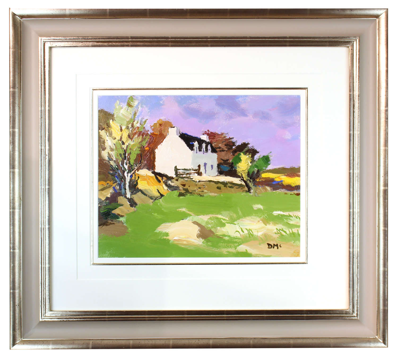 DONALD MCINTYRE (1923 - 2009) - OIL ON BOARD