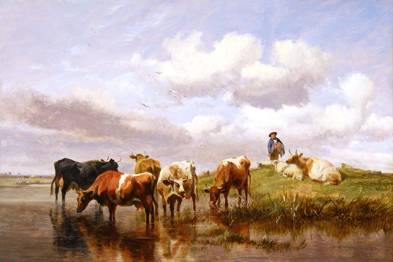 THOMAS SIDNEY COOPER (1803 - 1902) - OIL ON CANVAS
