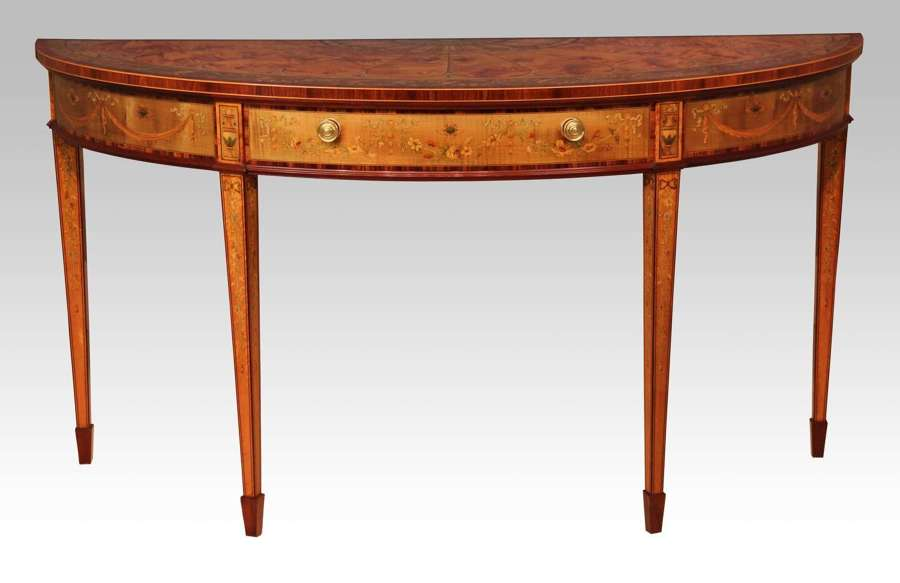 An Exhibition Quality Satinwood Console Table