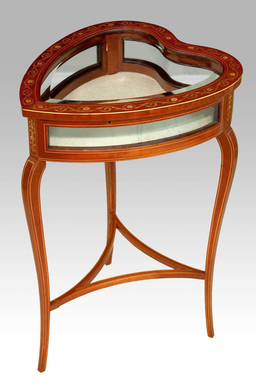 A Beautiful Victorian Mahogany Heart-shaped Bijouterie Table