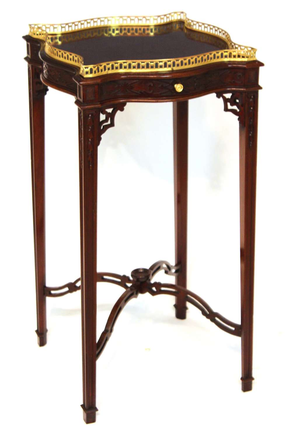 An Exquisite Chippendale Style Victorian Mahogany Kettle Stand