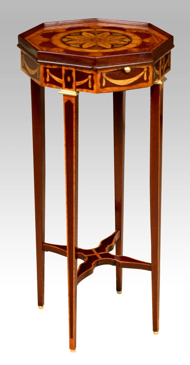 A Fine Inlaid Mahogany Victorian Kettle stand