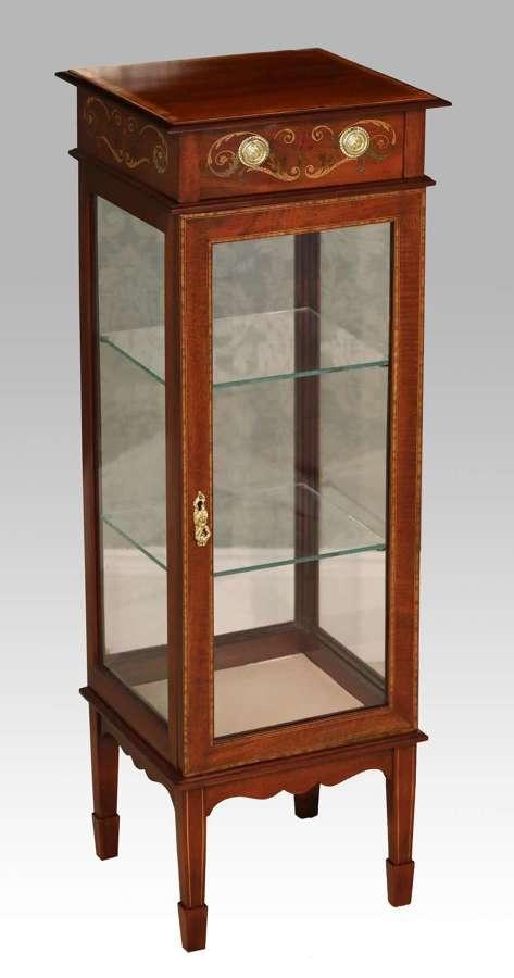 A Quality Edwardian Mahogany Inlaid Center Display Cabinet